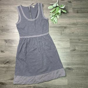 JCREW | sz 0 gray Jenny cotton tank dress